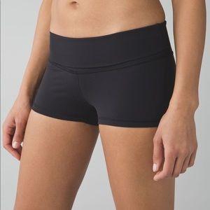 Lululemon size 4 black booty shorts.